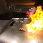 大阪にある鉄板焼き専門店「縁(えにし)」でシャトーブリアンとアワビを食す